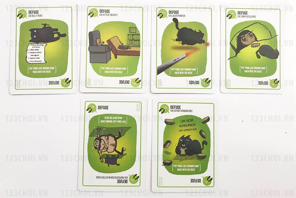 Thẻ bài Defuse trong Bộ bài Mèo nổ