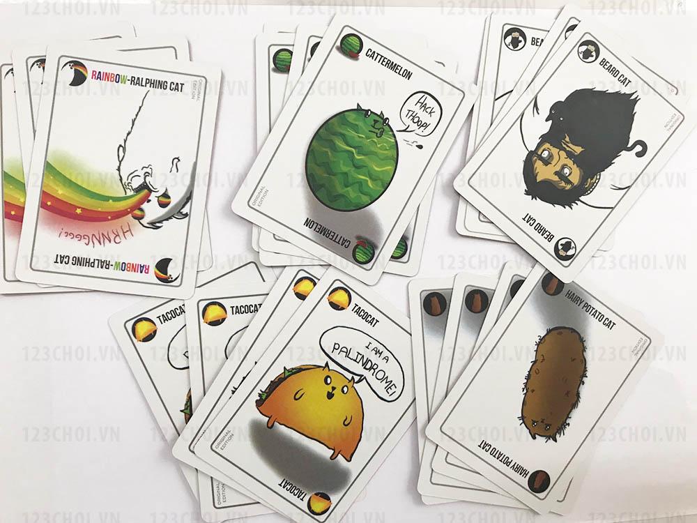 Các thẻ bài kết hợp trong bộ bài Mèo nổ