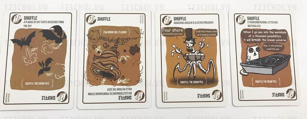 Thẻ bài Shuffle trong bộ bài Mèo nổ