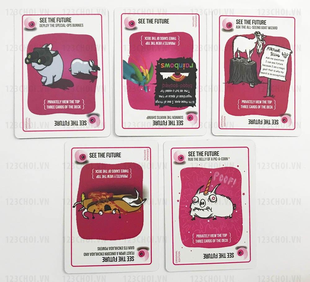 Thẻ bài See the future trong bộ bài Mèo nổ