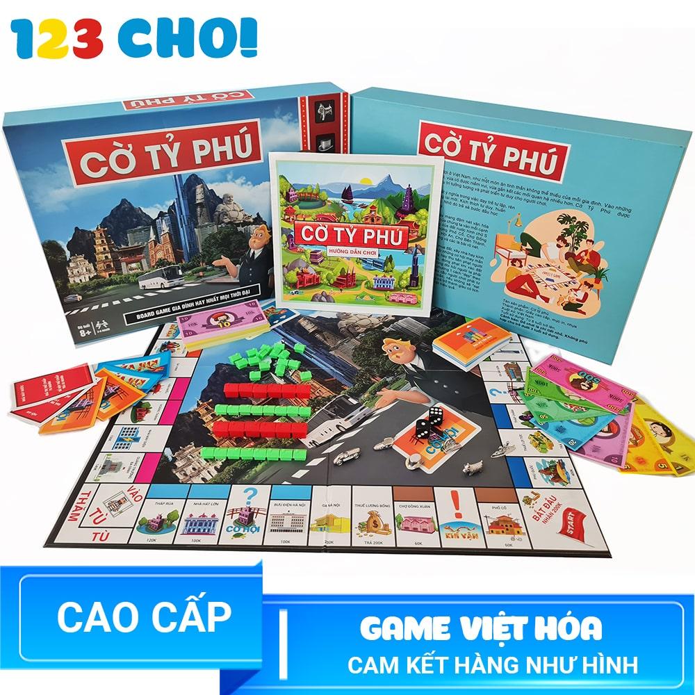 Cờ Tỷ Phú Monopoly Tiếng Việt Cao Cấp