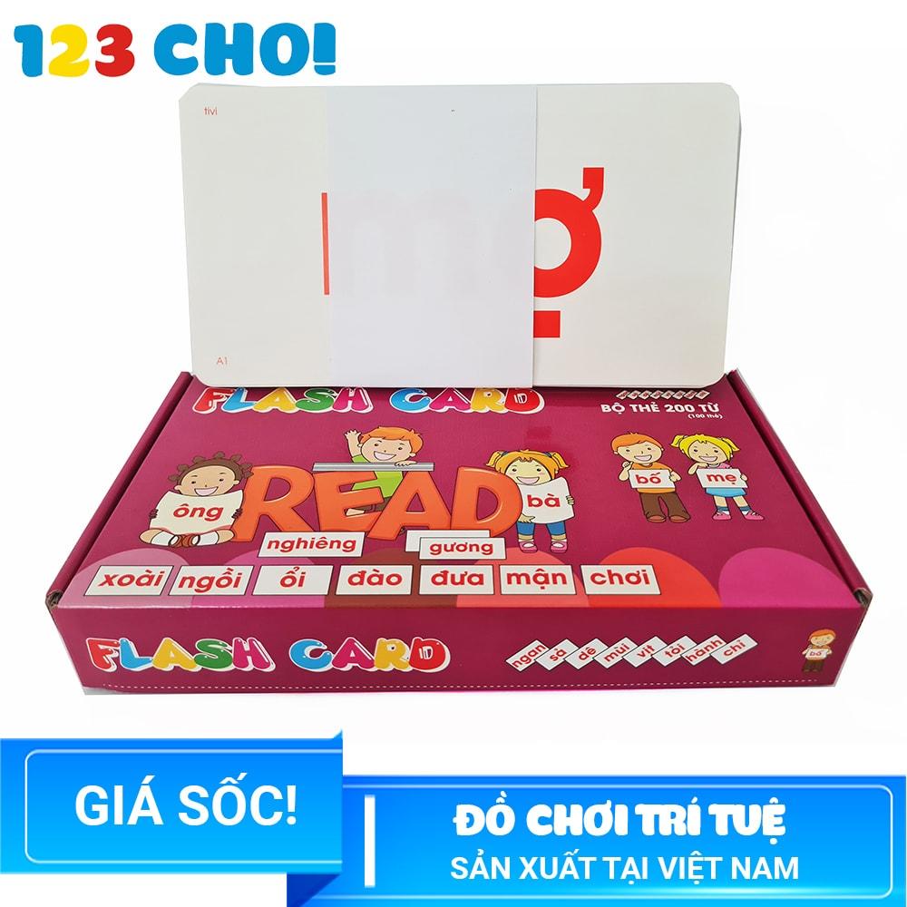 Flash Card – Bộ Thẻ Học 200 Từ Cho Trẻ Em